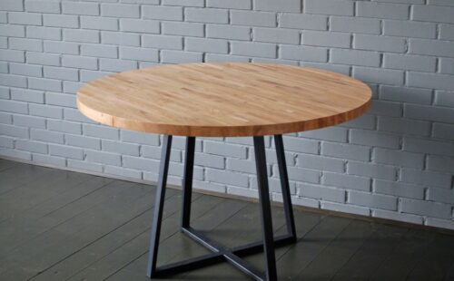 Кованый стол в стиле лофт